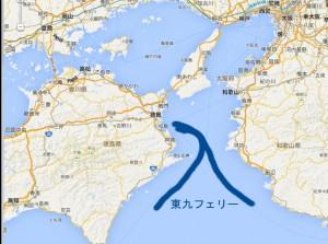 フェリー航路 東京-徳島-北九州