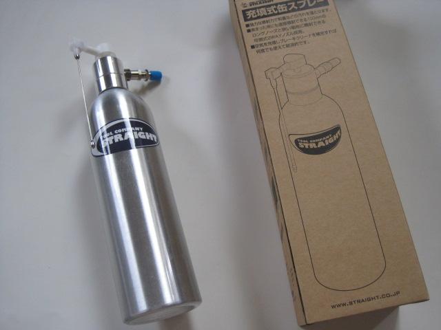 エアーコンプレッサー充填式-缶スプレー