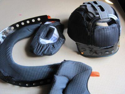 アライヘルメット すべての内装パッド 取り外し