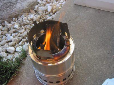 キャンプ用コンロ 燃焼